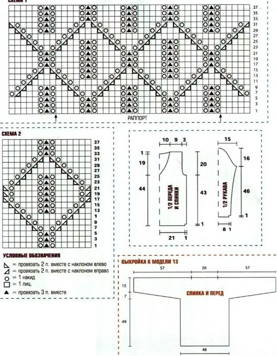 Схемы вязания свитеров на спицах бесплатно