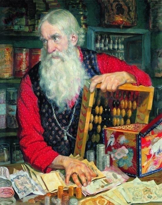 A Merchant, by Boris Kustodiev (552x700, 197Kb)