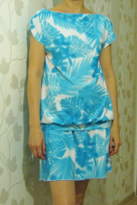 Простое платье из вискозы своими руками 79