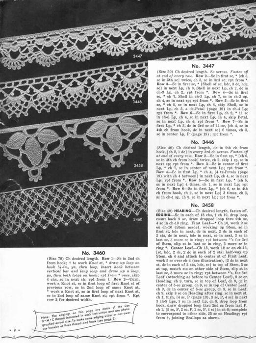1951 Crochet Easy to make Edgings-8 (522x700, 271Kb)