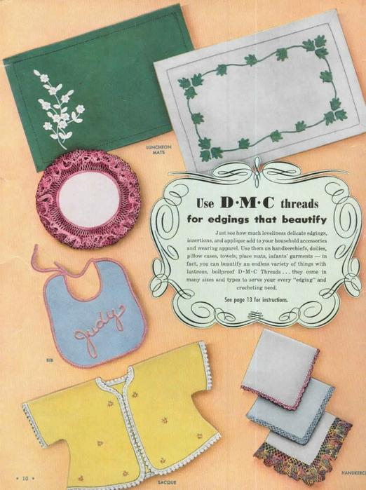 1951 Crochet Easy to make Edgings-10 (522x700, 289Kb)
