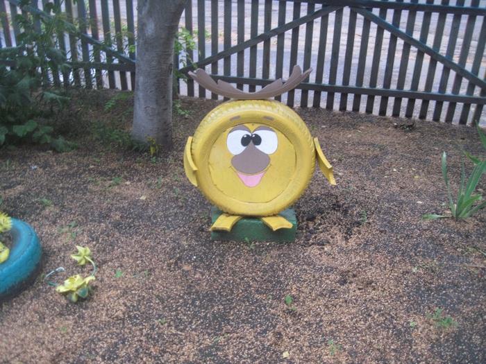 Лунтик из колес своими руками фото