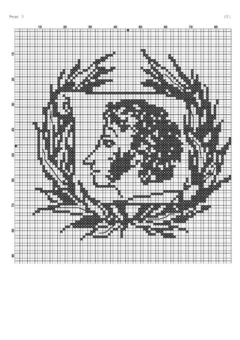 Схема для вышивки пушкина