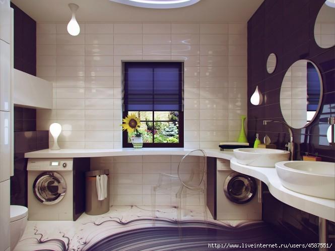 интерьер маленькой ванной фото