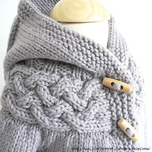 Серый поперечного вязания