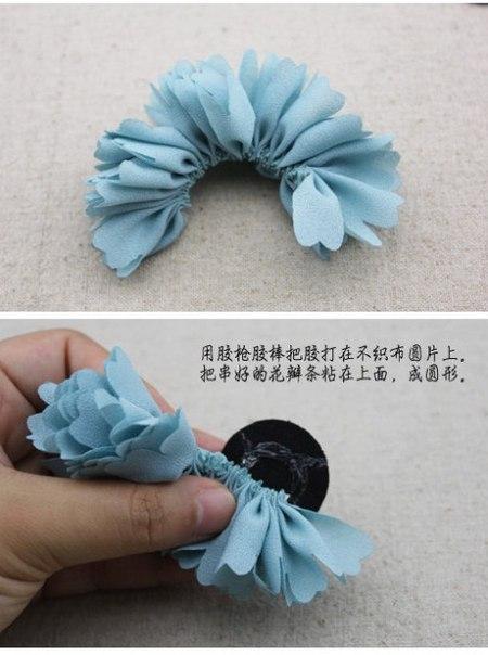 Цветы своими руками для волос