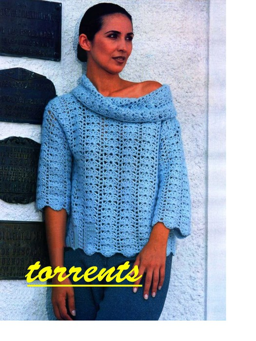 """Пуловер """"Голубой соблазн"""""""