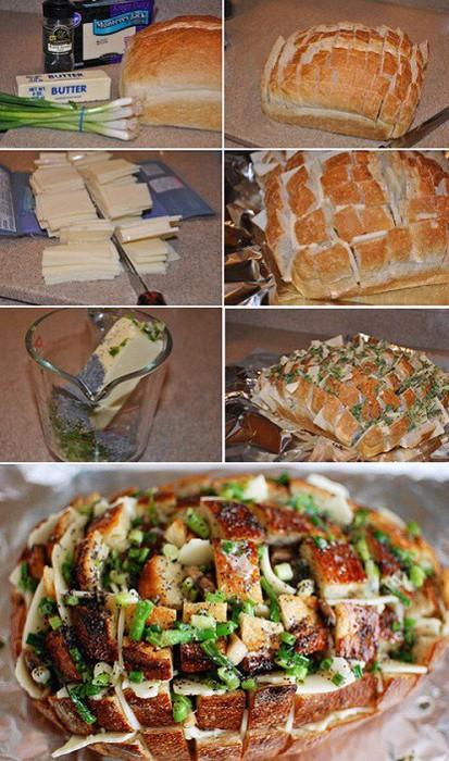 """Ингредиенты: хлеб  """"кирпичик """", зелень, твёрдый сыр, молотый чёрный перец, сливочное масло около 50 грамм."""