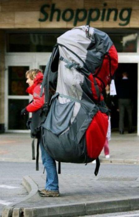 рюкзак vs чемодан