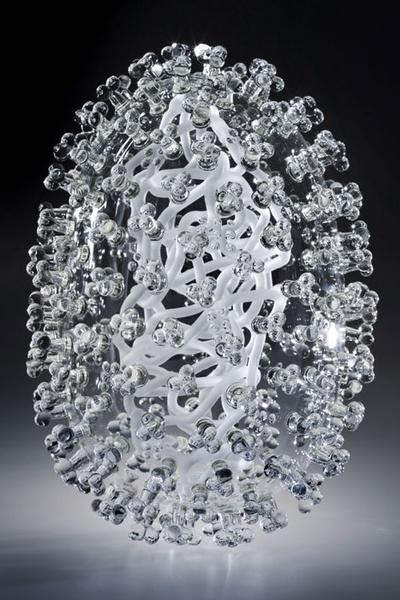 скульптуры из стекла Luke Jerram 9 (400x600, 112Kb)