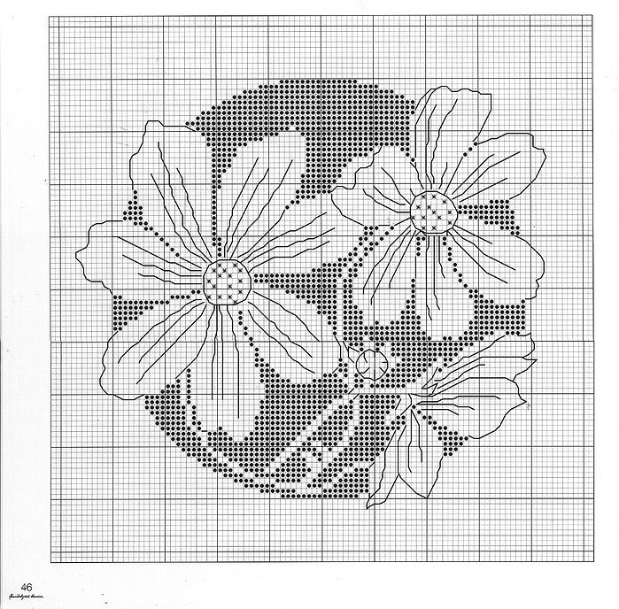 Монохромные картинки цветов 7
