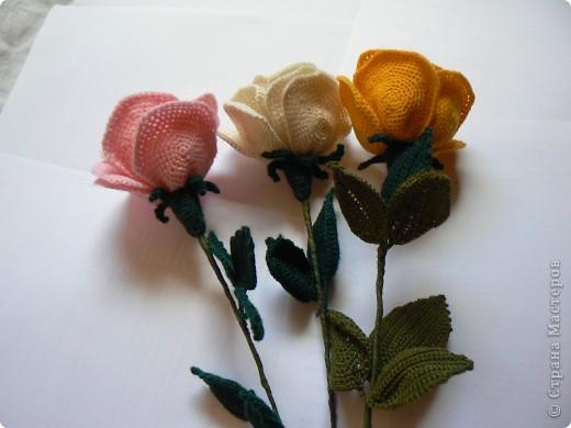 Вязаные крючком букеты цветов