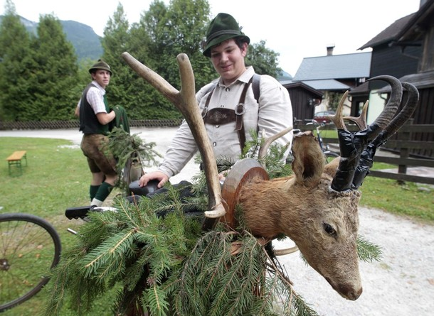 Австрийский Gamsjagatage фестиваль, деревня Бад-Гойзерн, 25 августа 2012 года
