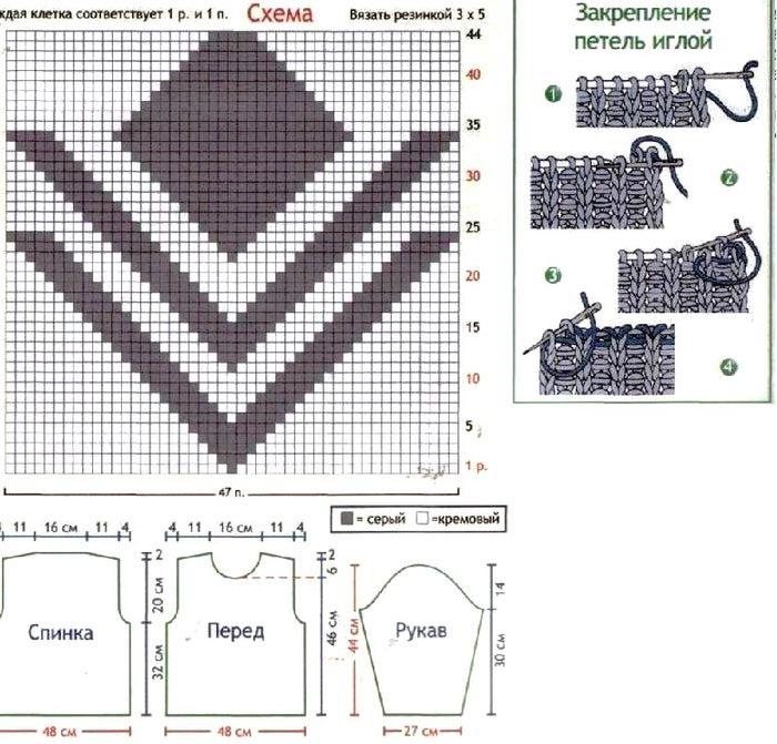 Схемы вязания кофт для зимы