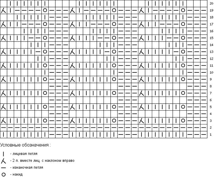 tamica.ru - Схема вязания 30x20 воротник пальто 1 (700x579, 109Kb)