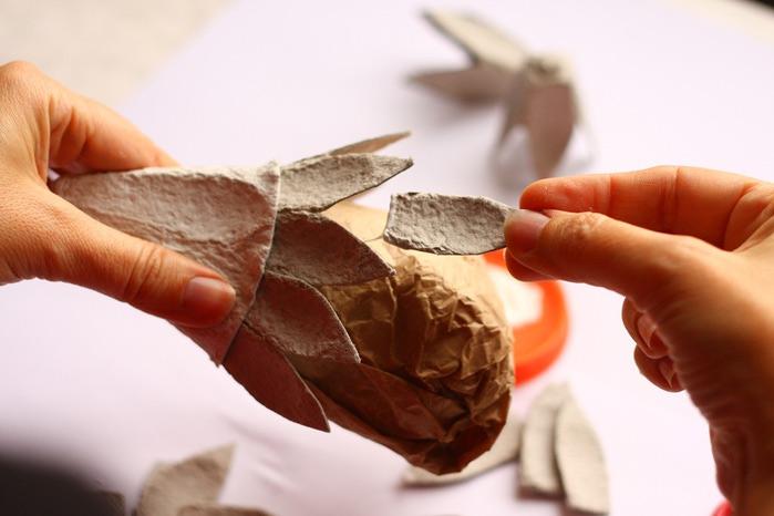 Папье-маше из яичных лотков: из коробок, как сделать поделки