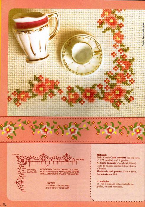 【外网搜集】分享一组漂亮的十字绣花边(提花)图案