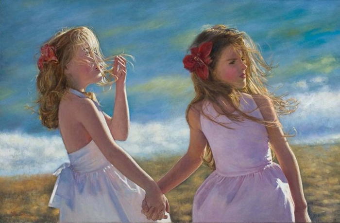 Children in art - Odysseas Oikonomou [Οδυσσέας Οικονόμου] 1967 - Albanian-Born Greek Figurative painter (11) (700x458, 210Kb)