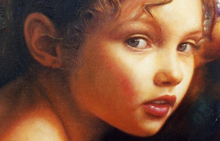 Children in art - Odysseas Oikonomou [Οδυσσέας Οικονόμου] 1967 - Albanian-Born Greek Figurative painter (42) (700x451, 244Kb)