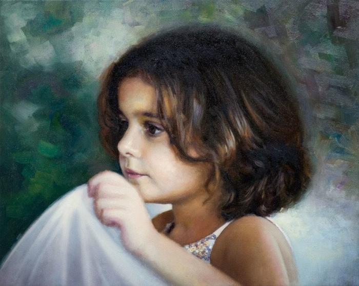 Children in art - Odysseas Oikonomou [Οδυσσέας Οικονόμου] 1967 - Albanian-Born Greek Figurative painter (48) (700x557, 306Kb)