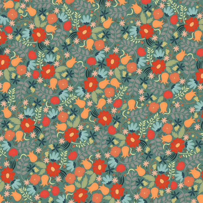 elledesigns_wa green flower paper (700x700, 521Kb)