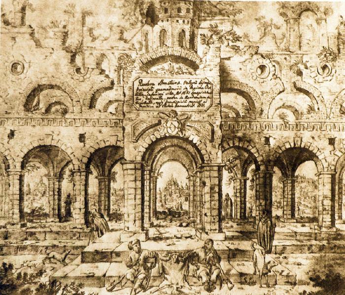 1 Титульний аркуш до альбому київських малюнків Абрагама ван Вестерфельда (700x598, 723Kb)