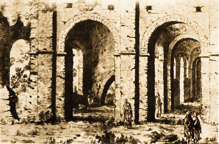 16 Собор св. Софії. Західні галереї, вигляд з півдня (700x458, 159Kb)