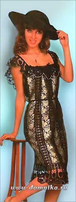 Платье из кружевной тесьмы