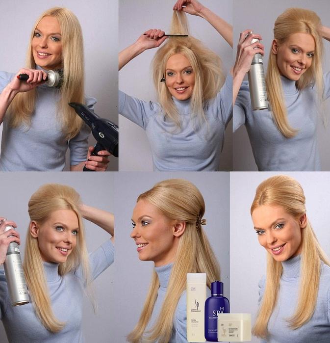 Укладка длинных волос своими руками фото