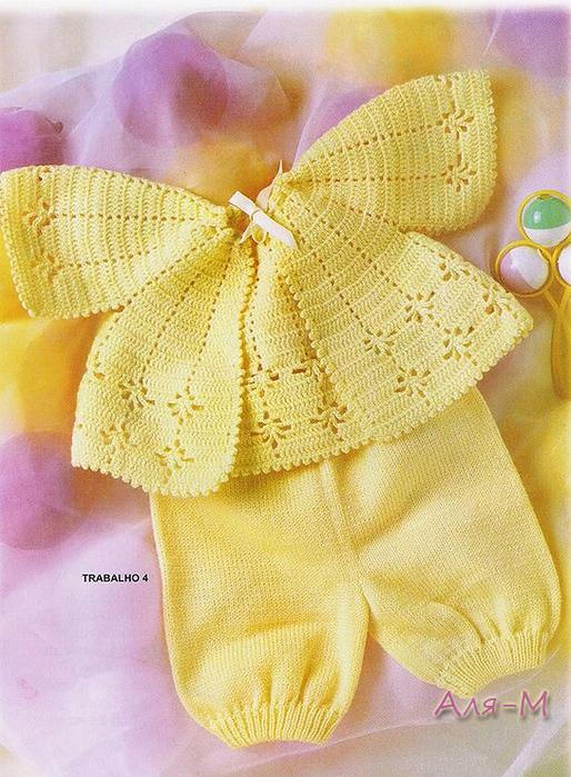 Вязание кофт для новорожденных крючком 6