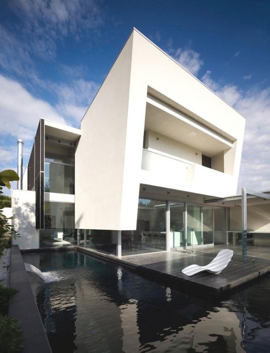 Австралийский частный дом в стиле минимализм 1 (535x700, 302Kb)