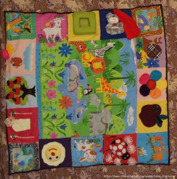 Как сшить развивающие коврики для детей своими руками