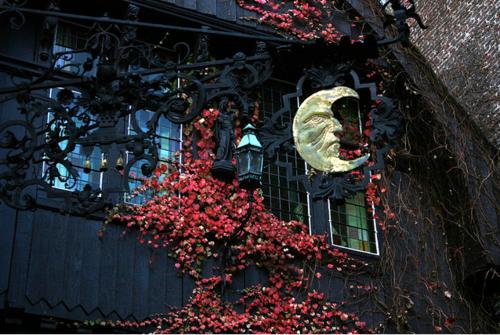 дом винтаж,ковка,кованый забор,чёрно-красное (500x335, 394Kb)