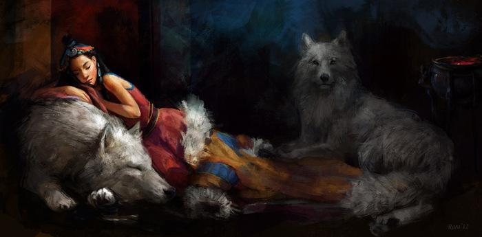 волк,любовь,волк и девушка,доброта,цитаты (700x345, 70Kb)