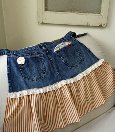 旧牛仔裤还能干什么?26  围裙   (大师班) - maomao - 我随心动