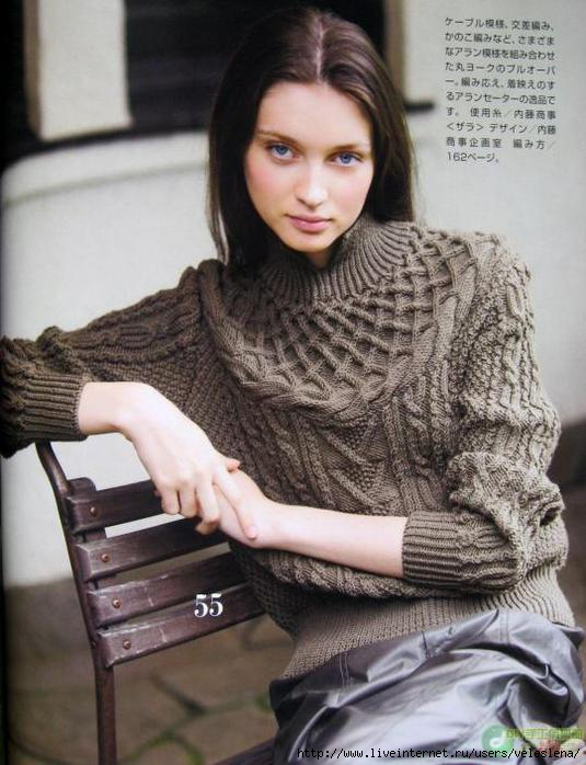 Женские свитера спицами и