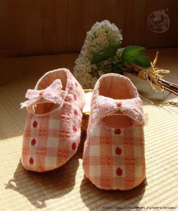 Сшить туфельки для малышки 80