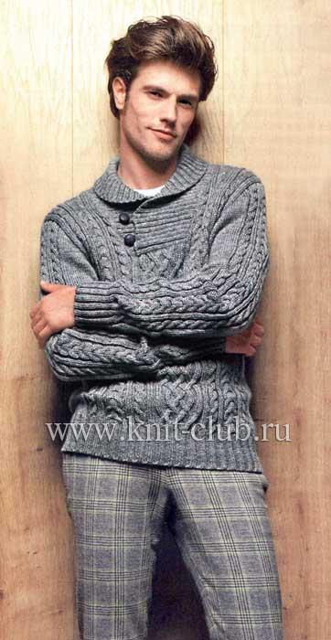 мужские полуверы схемы вязания.