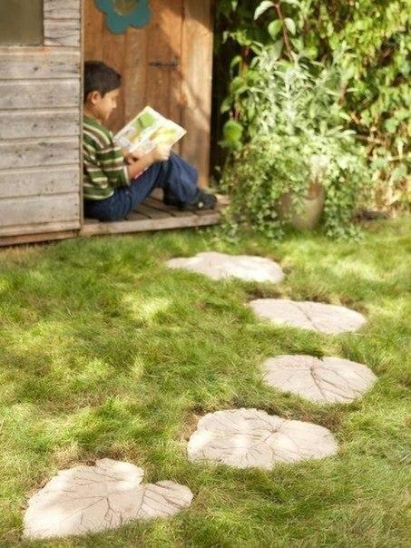 дорожки, деревянные, каменные, как сделать, фото, даче, саду, огороде, гравия, галька.