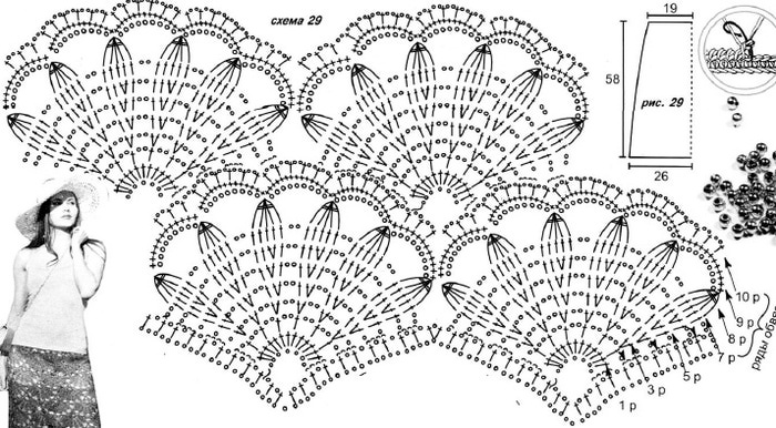 Ажурная юбка крючком1 (700x386, 126Kb)