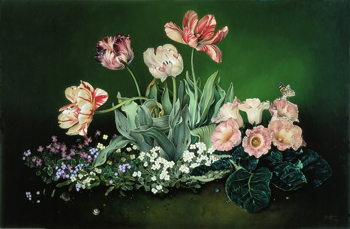 COLOURS OF SPRING 61x94 cms Oil on canvas 1998 (700x458, 92Kb)
