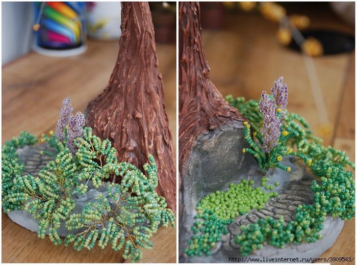Деревья из мелкого бисера мастер класс