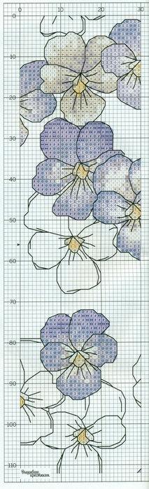 Схема для вышивки крестом анютины.