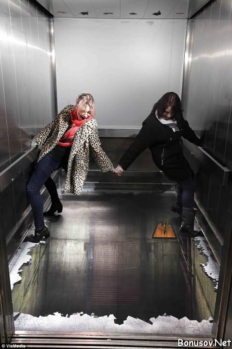 лифт без пола в лондоне Southside (467x700, 42Kb)