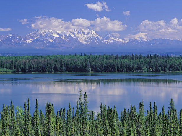 Willow Lake and Mount Wrangell, Wrangell Saint Elias National Park, Alaska (616x462, 113Kb)
