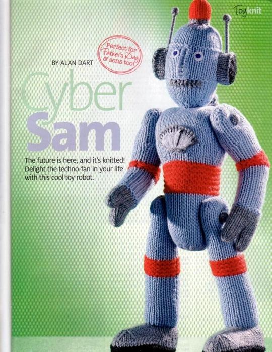 Формат: jpg Язык: eng Размер: 8Mb Описание: Double Knitting, Alan Dart knitting pattern for Cyber Sam robot.