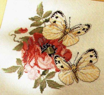 Великолепие бабочек -вышивка.