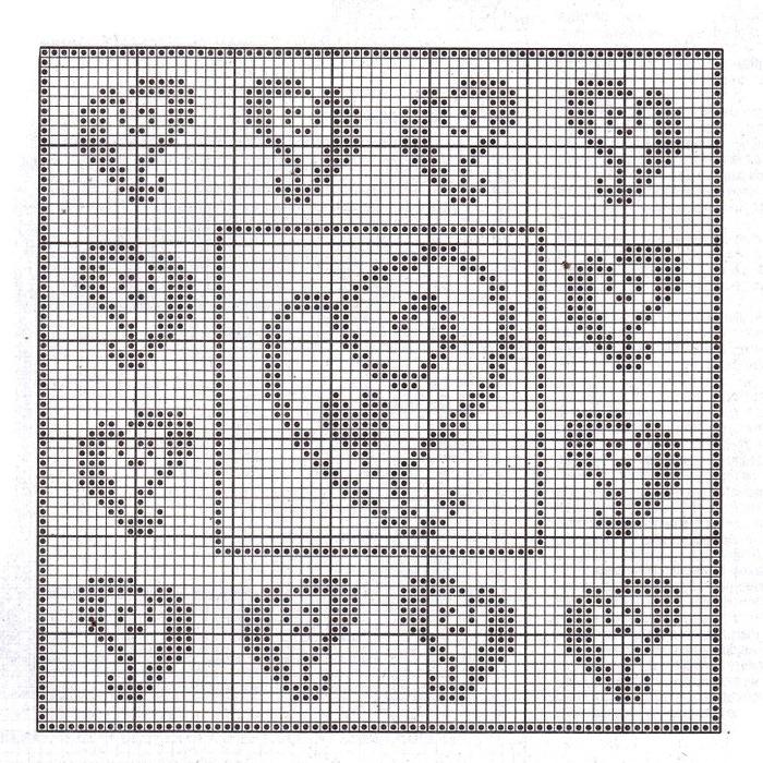 схема вязания занавески
