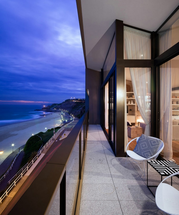 красивый пентхаус на побережье фото 1 (583x700, 250Kb)