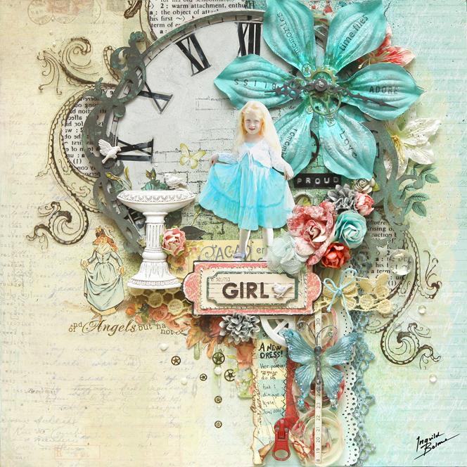 proud girl web prima - 664 - ingvild bolme - prima - shabby chic resin treasures - dress - proud - steampunk steam punk layout - clock face (664x664, 615Kb)